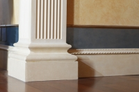 Pilaster base and mop guard