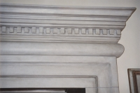 Plaster architrave cornice