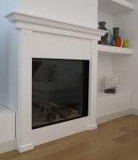 Plaster fireplace