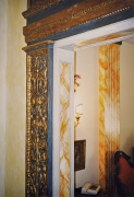 Plaster pilasters and cornices for a doorway