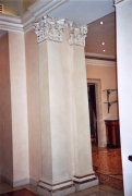 Plaster tapered pilasters