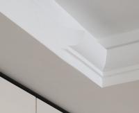 Plaster cornice with terminal