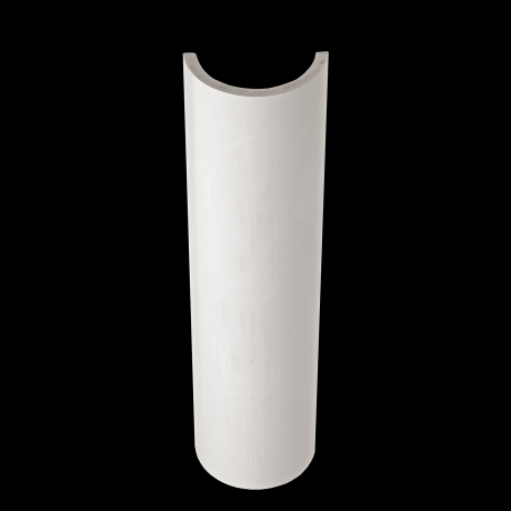 Plaster cylindrical elements