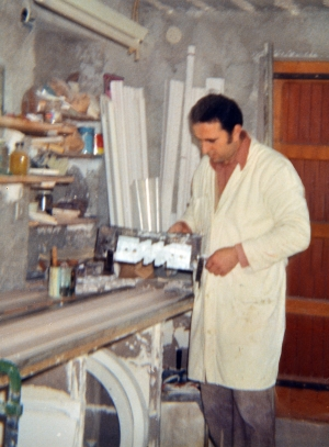 Andrea at work in the garage in 1972