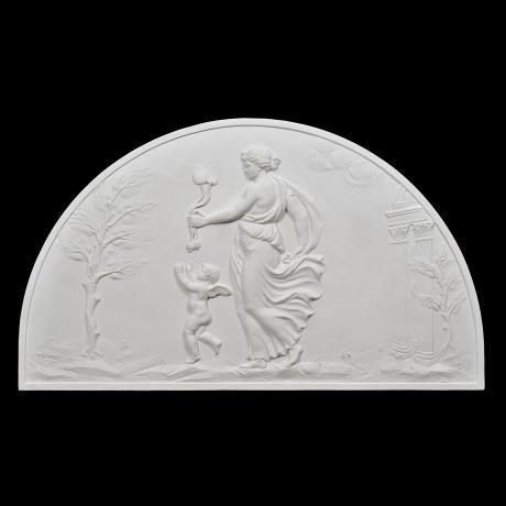 Plaster bas-reliefs